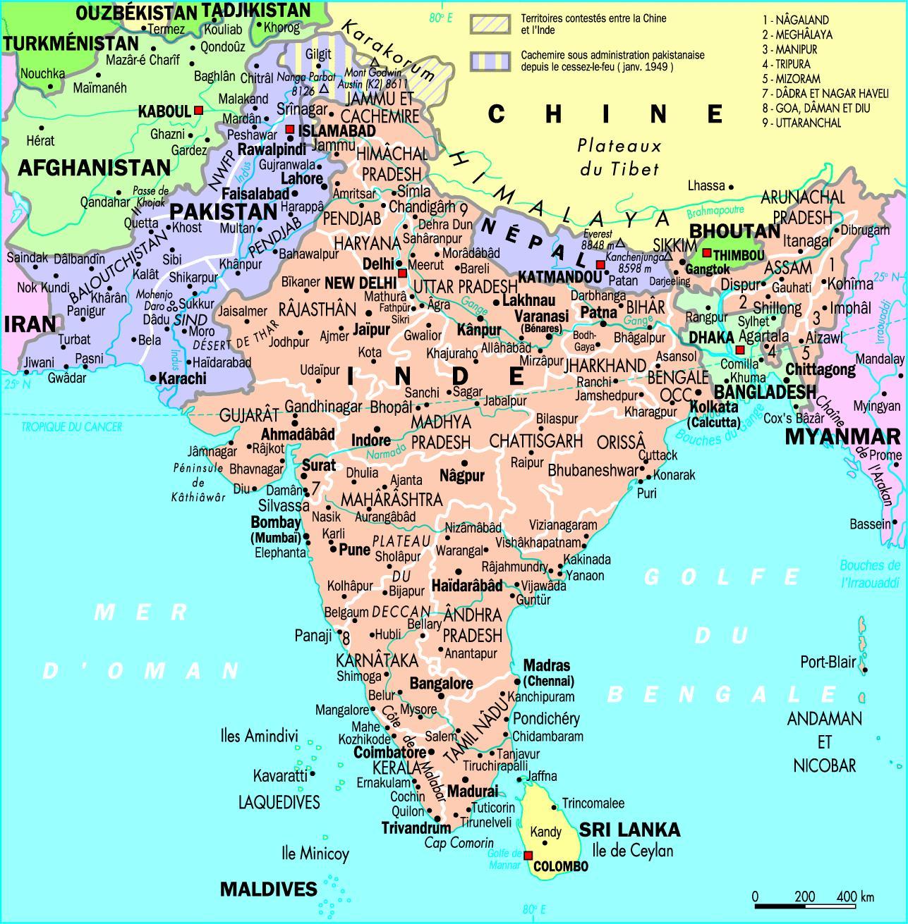 Carte De Linde.Carte De L Inde Aventures Spirituelles En Inde